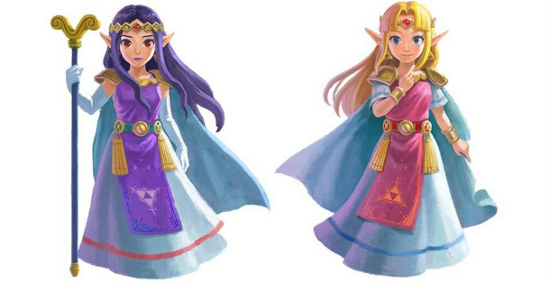 De två prinsesorna i A Link Between Worlds
