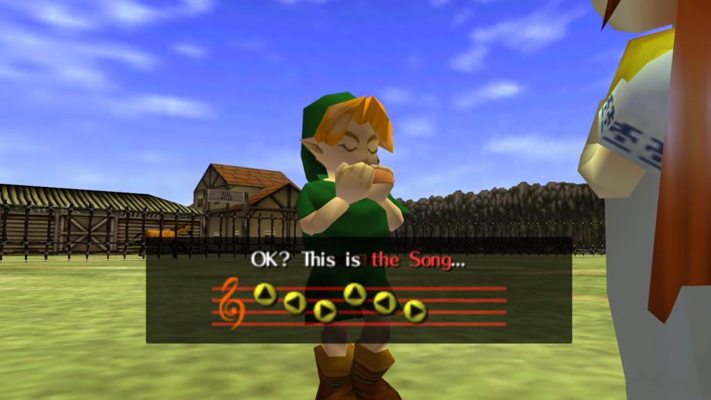 Ocarinan tog stor plats i spelet. Det är synd eftersom N64 inte hade något vettig ljudchipp.