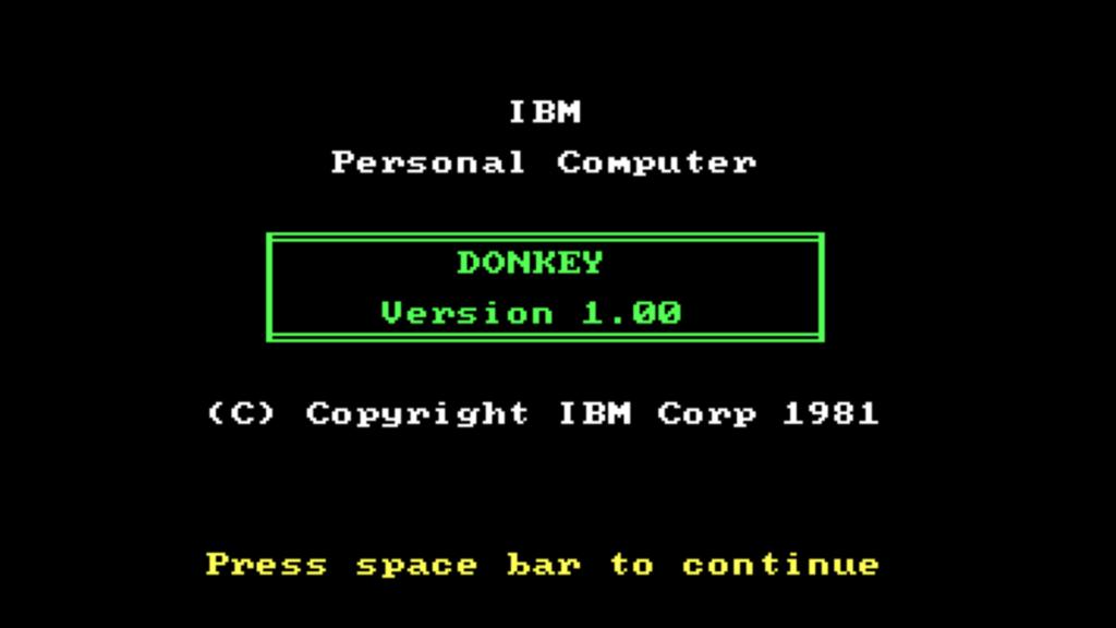 Titelskärmen till världens första PC-spel.