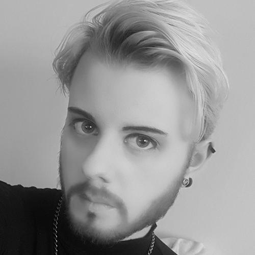 Svart/vit bild på Tobias Klein