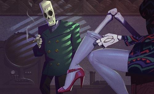Manny tittar på Meches skelettben när hon rättar till sin strumpa
