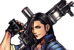Mannen med maskingeväret från Final Fantasy VIII