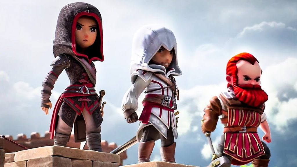 Shao Yun, Ezio och Bartolomé i Assassin's Creed: Rebellion