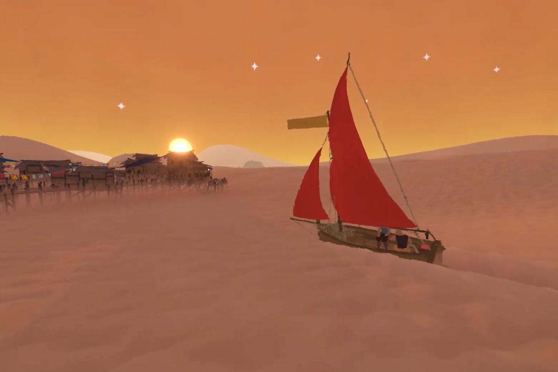 Segla genom öknen i Red Sails